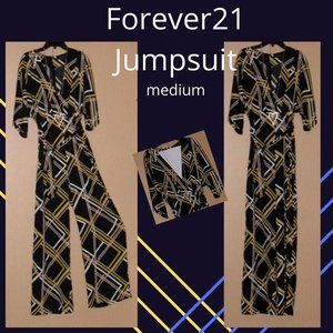 🛒Silky. comfortable Forever 21 Jumpsuit -med.
